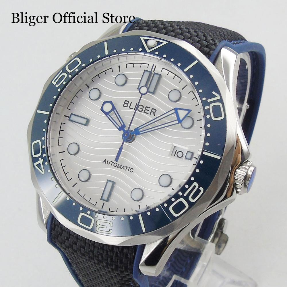 High Quality BLIGER Automatic Men s Watch With Sapphire Glass White Dial Luxury 41mm Wristwatch