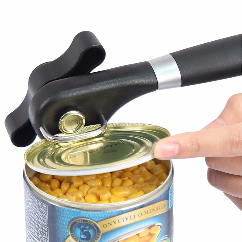 Brand Cans Opener Professional Ergonomic Manual Can Opener Side Cut Manual kitchen Tools Stainless Steel with Turn knob