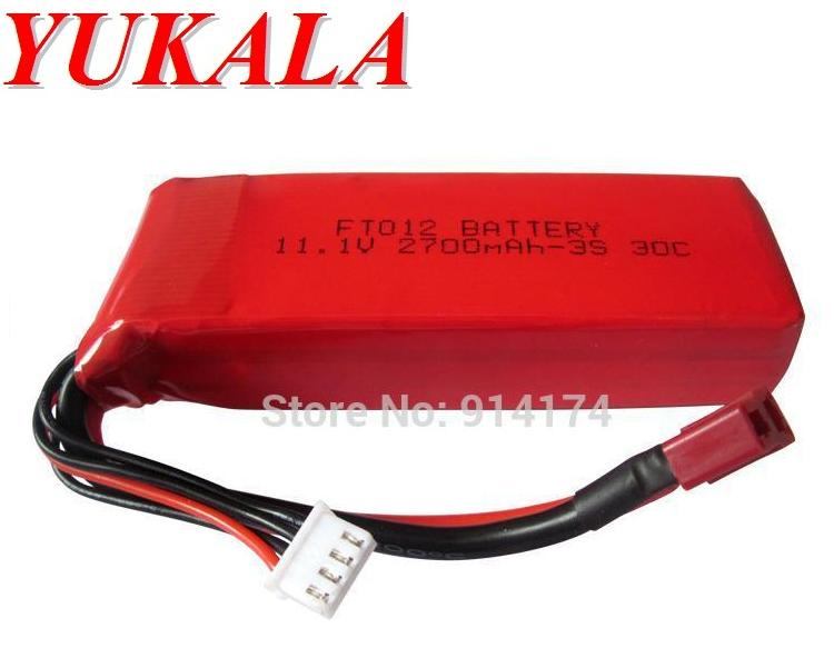YUKALA FT012 2.4G RC racing boat spare parts <font><b>11.1v</b></font> <font><b>2700mah</b></font> Li-polymer <font><b>battery</b></font> image