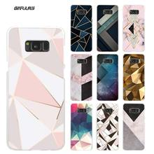 Geometric Case for Samsung Galaxy M20 M30 M40 M10 S10e S10 5G S9 S8 Plus S7 Note 8 9 Hard Coque Cover Shell Shapes line Pattern
