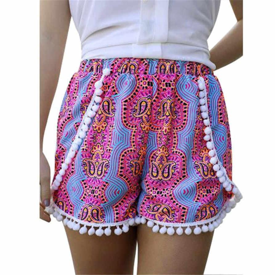 ... Hot Marketing Women Girl BOHO Sexy High Waist Tassel Shorts Summer  Casual Short Beach feminino high ... 96a76eb14c3