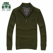 AFS JEEP New Sweater 2015 Fall for men,Patchwork Casual Knitted underwear,Thickness Mens Full Sleeve Cargo Sweaters Big Size