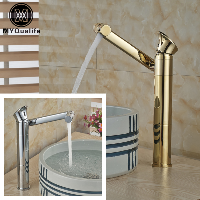 Chrome/Golden Countertop Hot and Cold Water Faucet Bathroom Kitchen Sink Mixer Taps Deck Mounted One Handle bathroom golden dual handle taps washbasin sink faucets hot and cold water mixer faucet