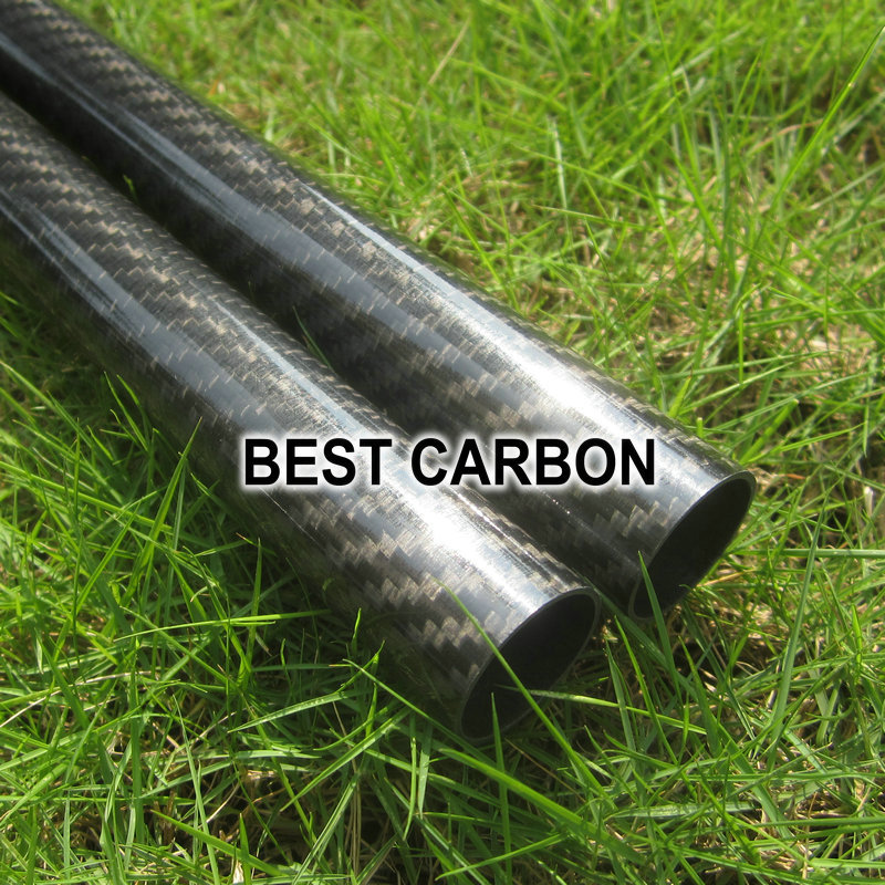 Free shiping 2pcs x 25mm x 23mm x 2000mmm High Quality 3K Carbon Fiber Fabric Wound Tube