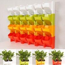 2-Pocket вертикальные настенные кашпо самополивающаяся подвесная Цветочная горшка украшение сада