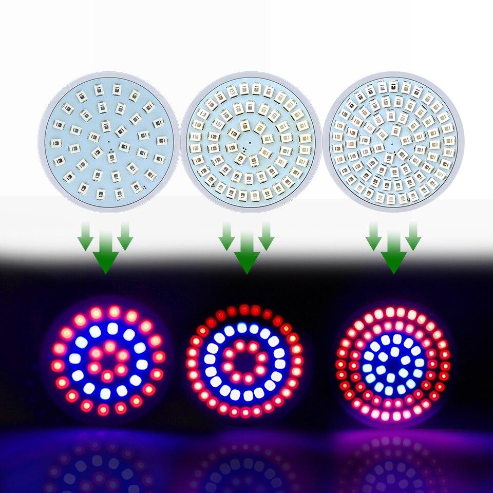 220V LED Grow Light Full Spectrum Fitolampy E27 GU10 MR16 Growing Led Lamp For Plants Aquarium 36 54 72Leds Grow Lights Bulbs