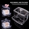 New Creative Clear Acrylic Q-Tip Storage Holder Box Transparent Cotton Swabs Stick Cosmetic Makeup Organizer Case High Quality