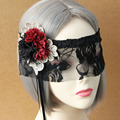 Beautiful lady Black Lace Floral Eye Mask Venetian Masquerade Fancy Party Prom  With Flower Gags & Practical Jokes TH0020