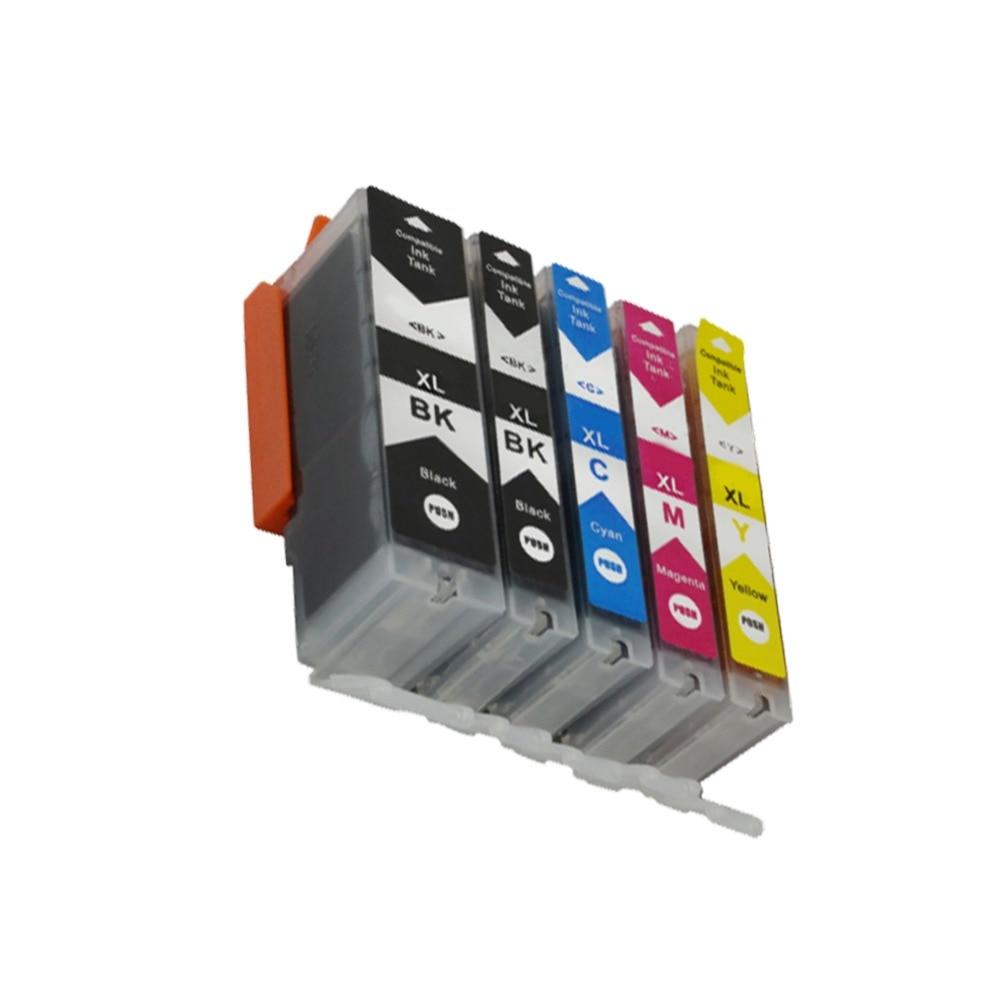 YLC 1set 5colors PGI550 PGI-550 CLI-551 compatible ink cartridge for Canon IP7250 MG5450 MX925 MG5550 MG6450 MG5650 MG6650 MX725
