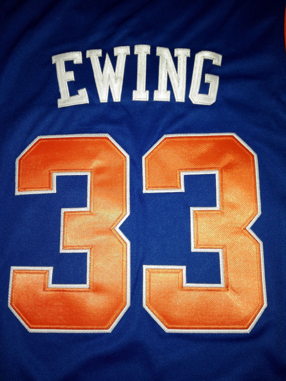 95c59b20fa2 ... NEW YORK BASKETBALL Shirt JERSEY 33 Patrick Ewing 8 LATRELL SPREWELL 3  John Starks Embroidery Stitched ...