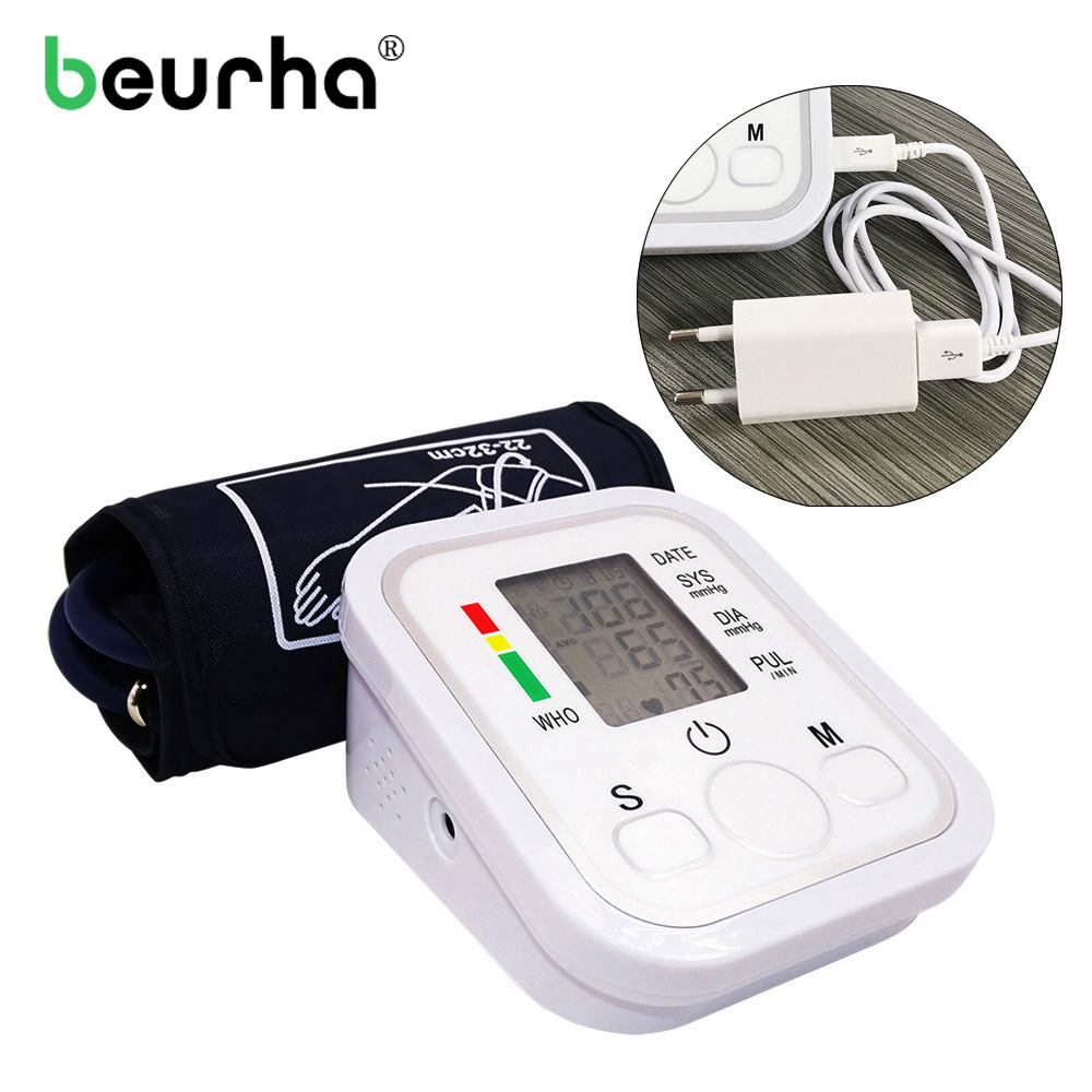 NEW!!Arm Blood Pressure Pulse Monitor Health care Monitors Digital Upper Portable Blood Pressure Monitor meters sphygmomanometer digital upper arm blood pressure pulse monitor full automatic blood pressure monitor meters sphygmomanometer health care monit