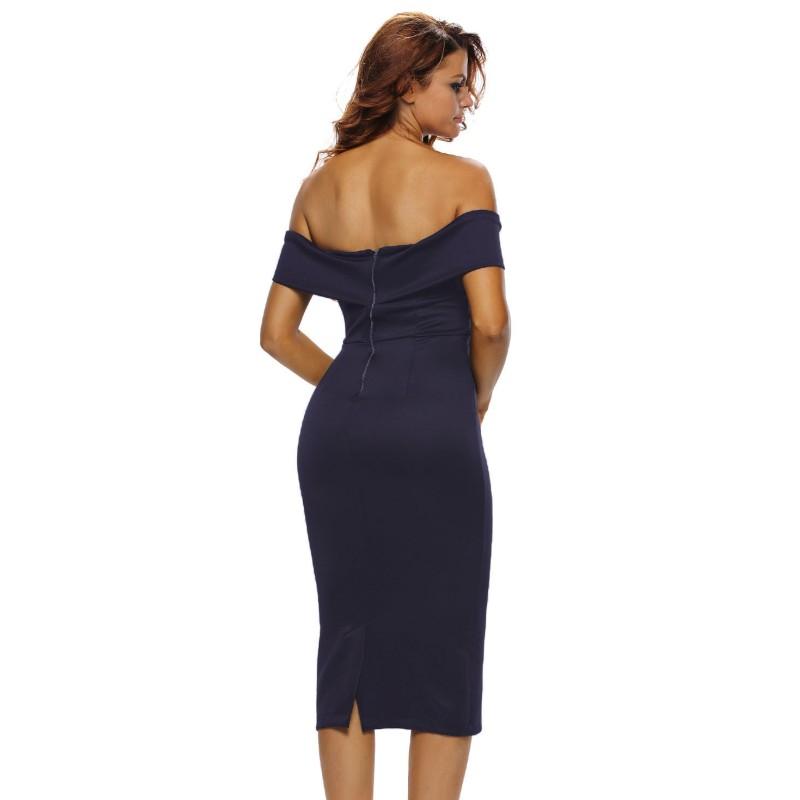 218a19df28935e Ysmarket 2017 off schouder sexy club wit midi dress womens kleding ...