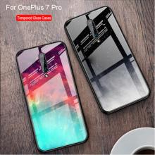 Tempered Glass Case For OnePlus 7 Pro Silicone soft Back Cover For OnePlus 7 Pro Cartoon Pattern Phone Cases For OnePlus 7Pro