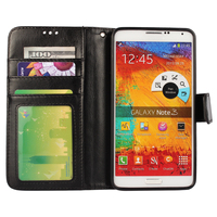 For Samsung Galaxy Note 3 Crazy Horse Wallet Stand Case Leather TPU Back Cover With Photo