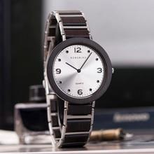 BOBO BIRD relojes de mano para hombre y mujer, de marca lujosa, pulsera ultrafina de metal y madera de cuarzo con caja de madera, 2020