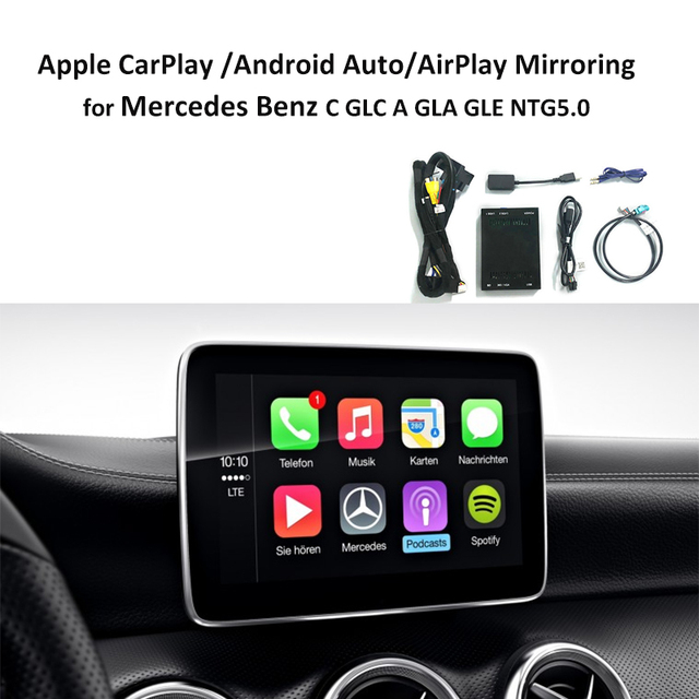 Rear Camera Interface with Apple Carplay for Mercedes Benz A C class GLA GLC GLE GLS NTG 5.0 iOS AirPlay Mirroring Android Auto