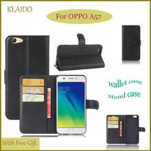 Case For OPPO A57 Cover With Card Slot Wallet Stand Phone Bag Leather Case Mobile Phone Accessories And Parts KLAIDO Brand