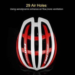 Image 5 - Pmt venda quente capacete de ciclismo ultraleve in mold bicicleta 29 aberturas ari capacete respirável estrada montanha mtb bicicleta capacete