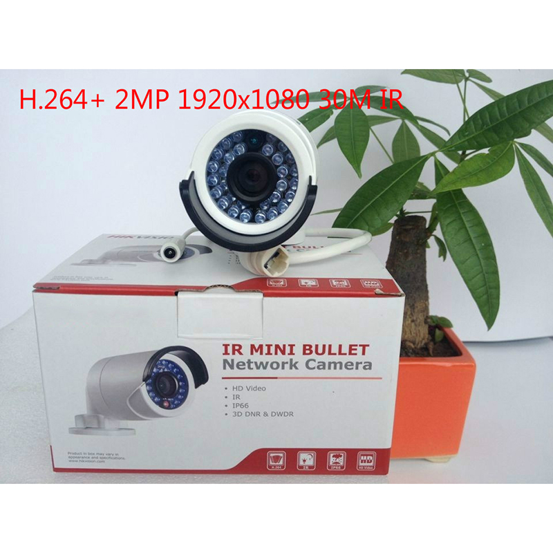 цены HIK DS-2CD2022WD-I English version2MP IR Bullet Network Camera, P2P ip security CCTV camera POE, support H.264+
