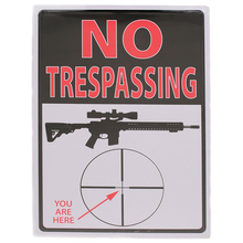 NO trespassing! You are here! tin signs vintage metal plate the wall decoration for home bar cafe shop