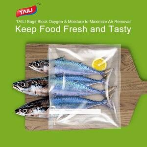 Image 2 - TAILI 5 Rollen Küche Lebensmittel Vakuum Tasche Lagerung Taschen Für Lebensmittel Vakuum Verpackung Rollen Vakuum Wärme Dichtung Tasche 20*610cm/28*490cm