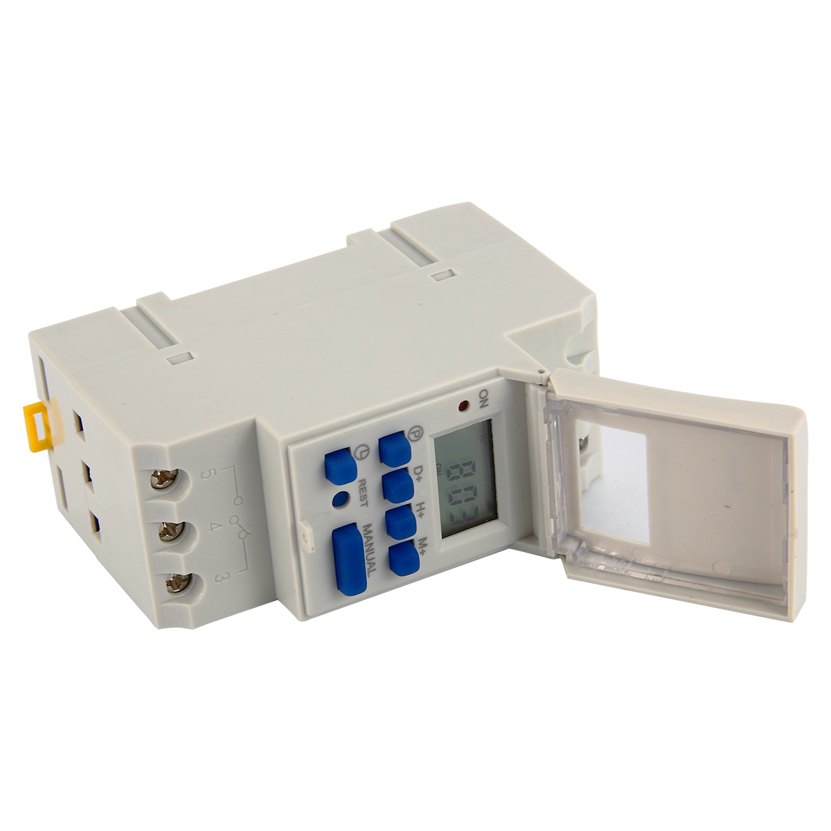 Electrical LCD Power Programmable Digital Timer Relay Power Switch Time Relay AC 220-240V (8)16A Din Rail Mount BI117 5pcs lot x din rail time relay switch digital lcd power programmable timer dc 12v 16a