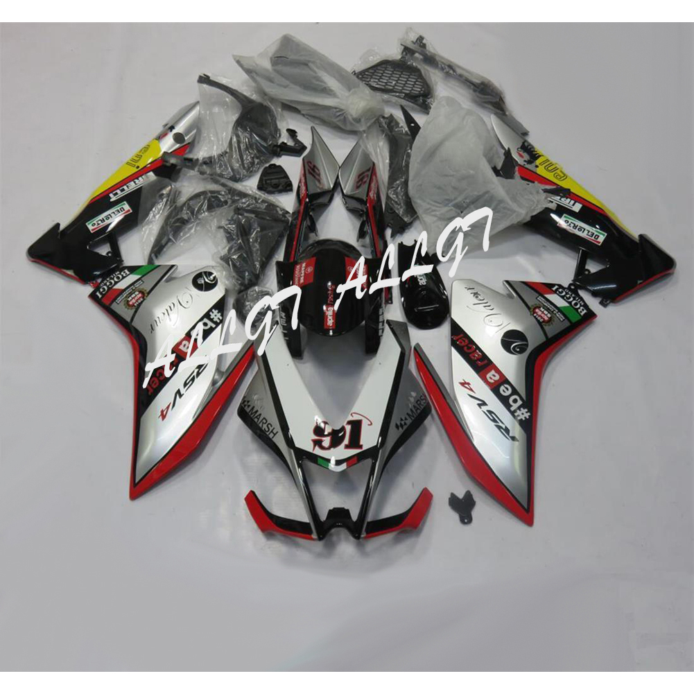 ABS Injection Molding Fairing Kit Bodywork Set For Aprilia RSV4 1000 2010 2011 2012 2013 2014 2015 unpainted motorcycle abs injection bodywork fairing cowl kit for honda vfr 1200 vfr1200 2010 2011 2012 2013