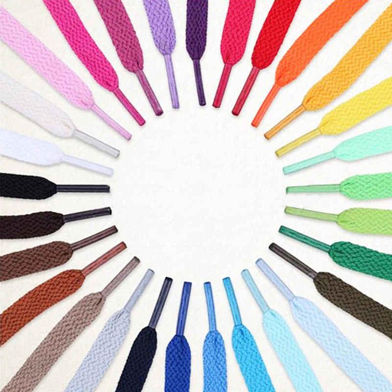 1 cặp polyester Phẳng Dây Giày 6 màu sắc 110 cm Giày cho Sneakers Thể Thao phụ nữ người đàn ông Giày ren