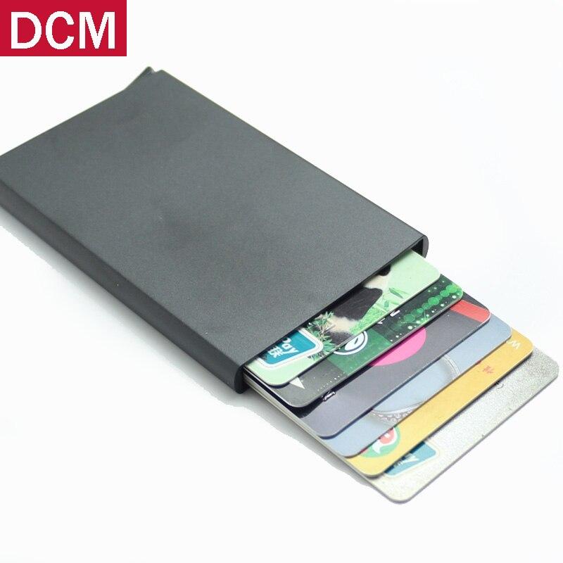 Haute QualitId titulaire de la carte de crédit en métal Automatique pop up aluminium portefeuille Antivol Rfid Portefeuille Blocage passer port titulaire