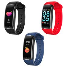 Fitness Trackers, IP68 Waterproof with Heart Rate Monitor, Bluetooth 4.0 Waterproof Smart Fitness Wristband Silicone Bracelet 2018 read brand original model x 0 95 inch wireless bluetooth smart bracelet heart rate monitor waterproof fitness bracelet