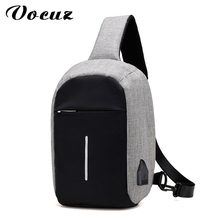 VOCUZ New Arrival Crossbody Bags Men Anti-theft Chest Pack Summer Short Trip Messengers Bag Water Repellent Shoulder Bag