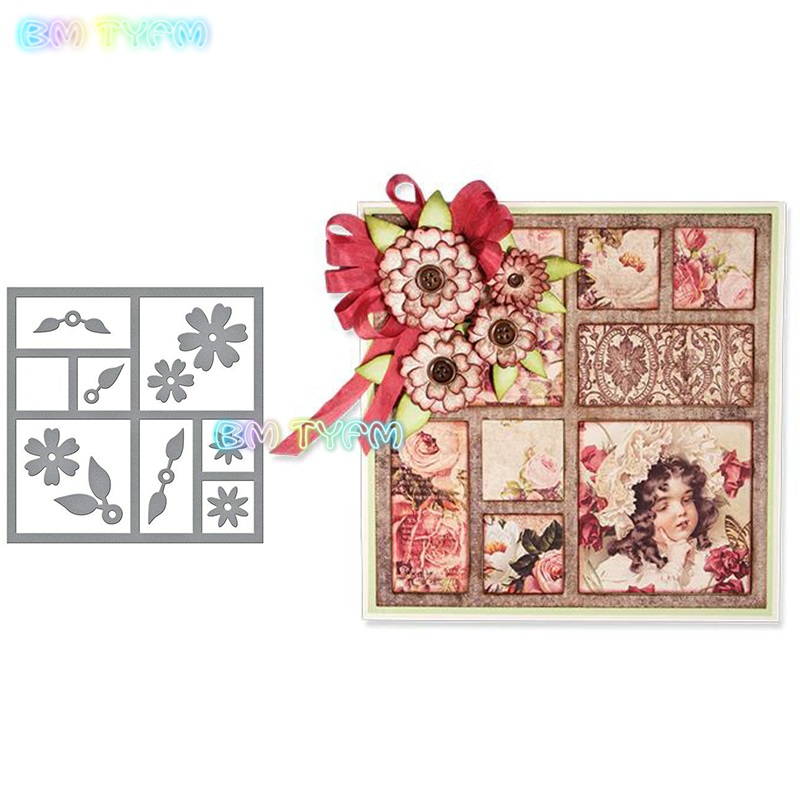 Flower Frame Embossing Folder Template For DIY Scrapbook Photo Album Card Craft