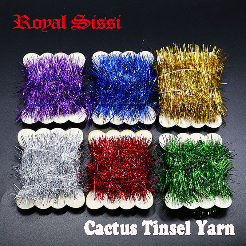 6 Cards/Set 6 Colors Assorted Fly Fishing Tinsel Chenille Crystal Flash Line Rig Baits Making Fly Tying Streamer Flies Material