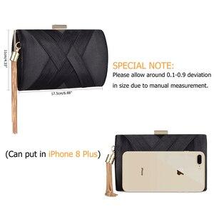 Image 4 - 新しいメタルタッセル女性クラッチバッグチェーンイブニングバッグショルダーバッグ古典的なスタイル小さな財布日のイブニングクラッチバッグ
