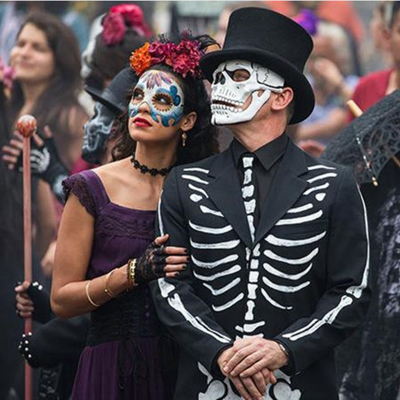 Movie 007 JAMES BOND Spectre Mask Skull Skeleton Scary Halloween Carnival Cosplay Costume Masquerade Ghost Party Resin Masks statue