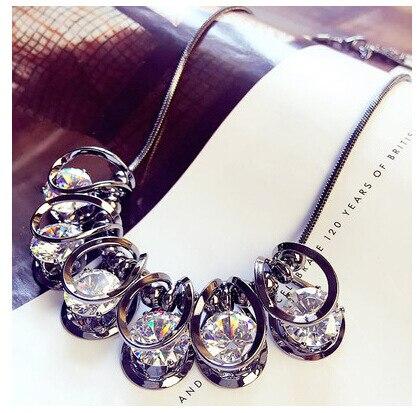 2019 Neue Sektor Original Fische Kristalle Von Österreichischen Opal Halsband Kleidung Halsketten 925 Schmuck Für Frauen Weihnachten Party Attraktives Aussehen