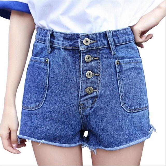 2017 Senhoras Quentes de Verão Sexy Shorts de Cintura Alta Shorts Jeans  Feminino Jeans Curto para ea50c62784a45