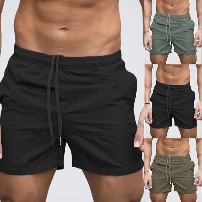 3fc179a1f2 2018 Adjustable Men Beach Shorts Breathable Quick Dry Sport Brief Short  Summer Surf Fitness Gym Board