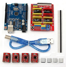 UNO R3 CNC shield V3 printer extension board + 4 A4988 + UNO R3