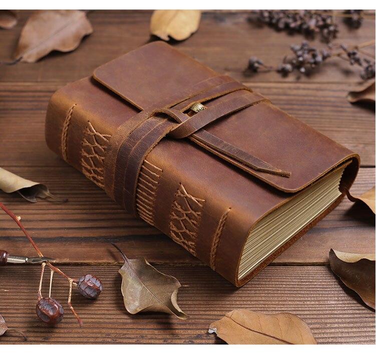 Cuir voyageur carnet planificateur créatif bricolage rétro voyage Magazine cahier Record quotidien mémo cahier haut de gamme cadeau d'affaires