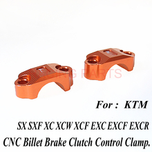 Brake Master Cylinder Clutch Handlebar Bar Clamp Cover holder for  SX SXF XC EXC XCF EXCF 250 350 450 125 85 free shipping
