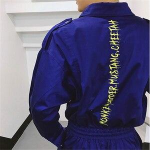 Image 5 - ジャンプスーツ男性長袖ワンピースオーバーオールストリートパンツファッションゆるいカジュアルなジャンプスーツ男性ヒップホップツーリングズボンYT5080