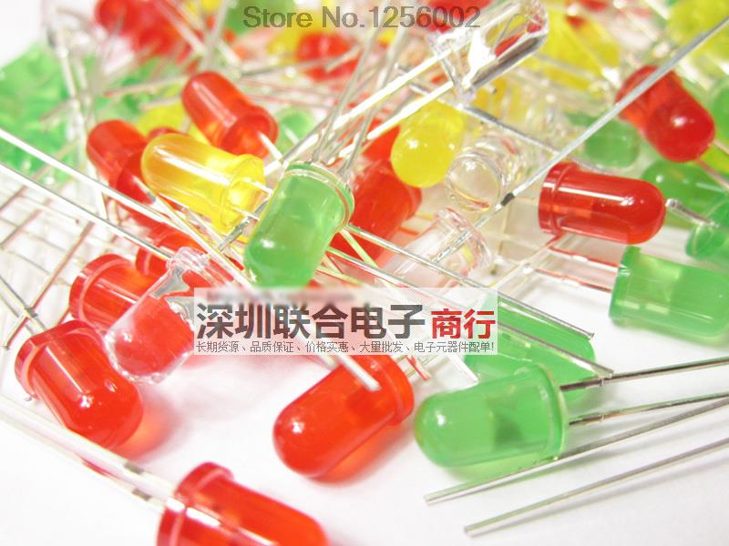 Led Light Emitting Diode Packet 5mm Super Bright Red Green