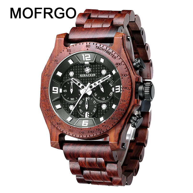 2018 Wood Watches for Men Waterproof Luxury Brand Wooden Watch Male Quartz Business Auto Date Man стоимость