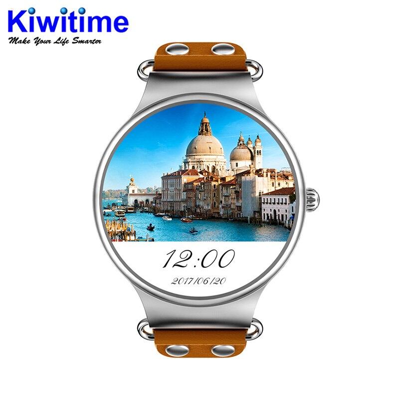 KW98 3G Smartwatch iOS téléphone Android 5.1 1.39 pouces MTK6580 Quad Core 1.0 GHz 8 GB ROM GPS fréquence cardiaque podomètre montre intelligente