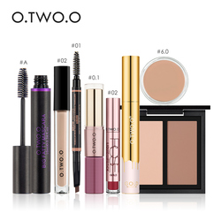 O.TWO.O 8 PCS Makeup Set Cosmetics Including Matte Lip gloss Mascara EyeBrow Pencil Concealer Powder With Package Make Up Tools