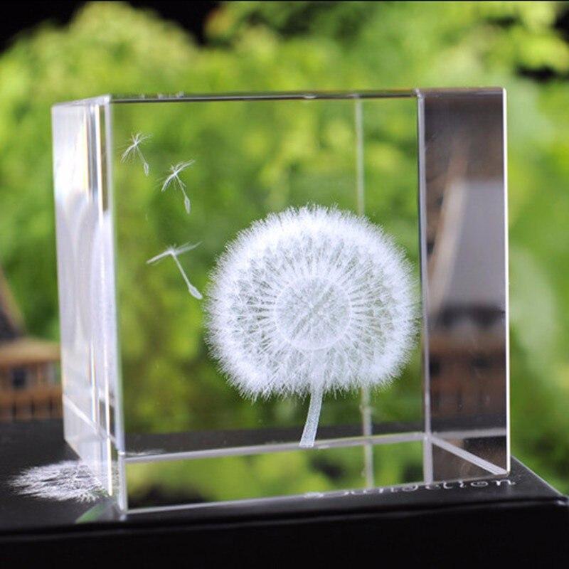 6cm Crystal Πικραλίδα Cube Crafts 3D Laser - Διακόσμηση σπιτιού - Φωτογραφία 5
