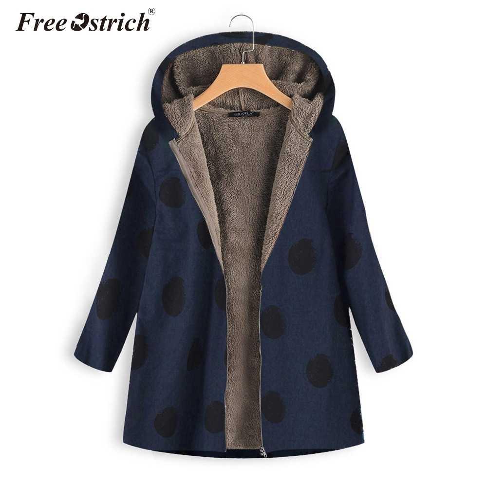 Ücretsiz devekuşu kış ceket kadınlar 2019 fermuar sıcak pançolar ve pelerinler ceket ve palto kadınlar kış Jaqueta De Couro Feminino n30