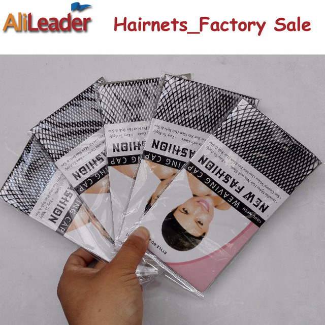 Alileader Top Sale Hairnets Good Quality Mesh Weaving Black Wig Hair Net Making Caps Weaving Wig Cap  Hairnets 20-50Pcs/Lot 4