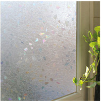 90x100cm Decorative Glass Window Film Home Decor Static Self adhesive Glass Sticker Gemetric Pattern Clear ST011